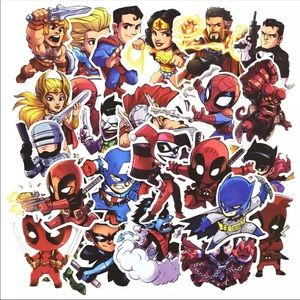 Other - 50Pcs New Random Superhero Stickers